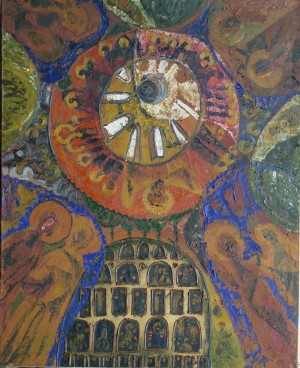 Dome, from the photo archive of Y. Nebesnyk, 1960, oil on canvas, 120x100