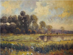 Summer Landscape, 1943, oil on canvas, 59x82