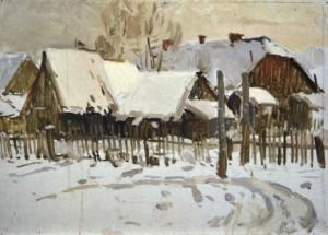 Зимовий день, поч. 1950-х, к.о. 35,5х50,5