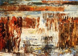 Sedge Grass', 1981, oil on fibreboard, 52x62,5