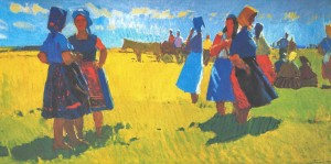 Summer day, 1975, oil on canvas, 78х153