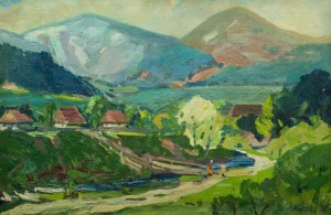 Summer In The Mountains, the 1960s, oil on canvas, 59,5х89,8