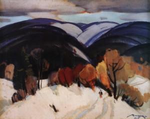 Зимовий мотив, 1969, п.о. 95х120