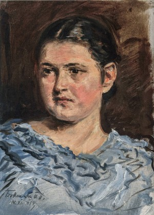 Female Portrait, 1959, oil on canvas, 34.5x25
