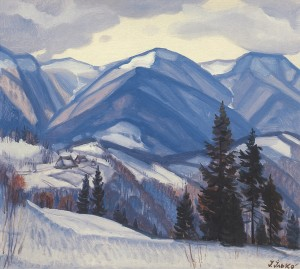 Winter Motif, 1985, oil on canvas, 55x60