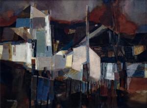 Evening. The Street In Uzhhorod, 1993, oil on canvas, 60x80
