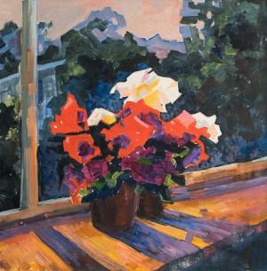 Evening Sun, oil on canvas, 55x55