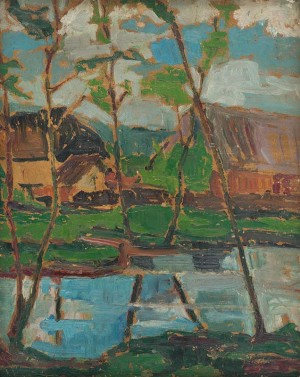 Vyznytskyi Stream, 1933, oil on cardboard, 50x40