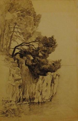 Untitled, 1911, chalk on paper, 45,5х29,5