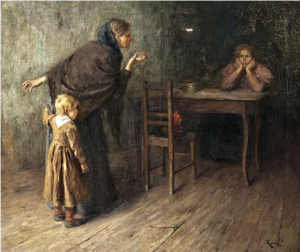 Genre Scene, oil on canvas, 80х93