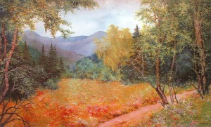 'Summer In The Carpathians', 1996, oil on canvas, 75x117