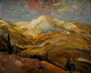 'View Of The Tatras Mountains', the 1940s, oil on cardboard, 42x50.jpg