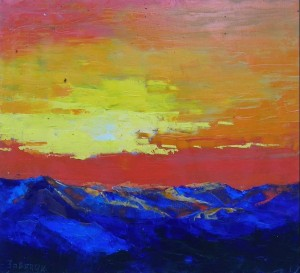 'Burning Sky', 2014, oil on canvas, 50x55