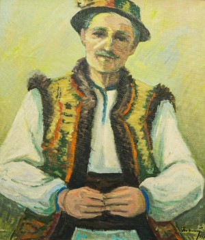 Portrait Of Hutsul, 1991, oil on canvas, 69x59