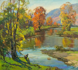 Autumn Above The River, 1979, oil on canvas, 79x89