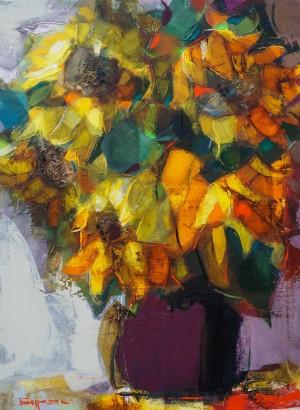 Buriak B. Sunflowers, 100x75, c.о, 2016