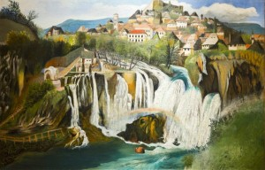 Waterfall at Jajce 1903