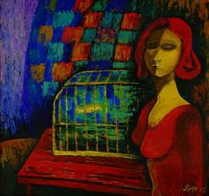 Жінка з кліткою, 2015