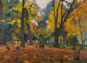 In The Park, 1958, oil on canvas, 65х90