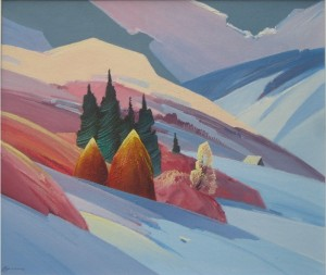 Зима, п.о., 70х60