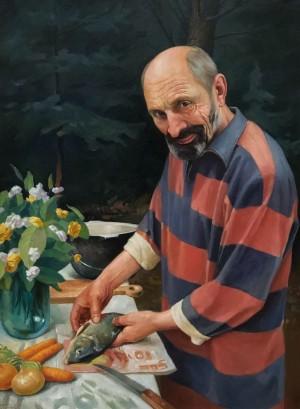 'Буде юшка', 2011, п.о., 80х60