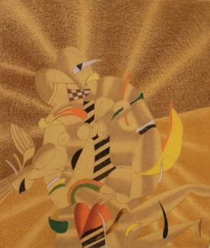 Медовий поцілунок, 2005, пап.паст., 67х57
