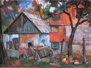 Пелевня, 1995, ДВП, о., 40х50