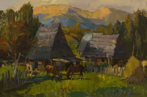 A. Kovach Night is falling over Nehrovets village, 2016