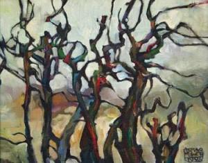 Дерева, 1993, п.о., 50х40