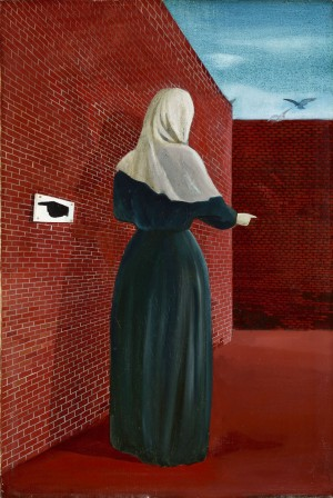 Woman in Front of the Wall (Woman with Veil)