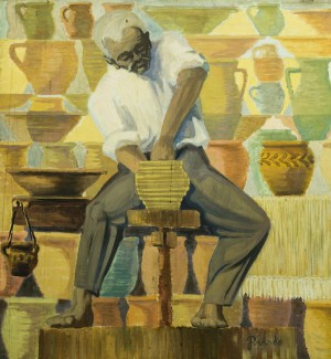 Grandfather-potter, 1966, oil on canvas, 90x84