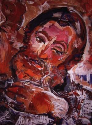 Портрет друга, 1982, карт., о., 60х80