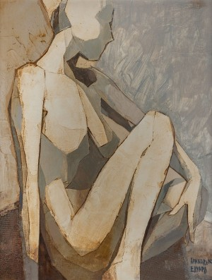 Nude', 2012, mixed technique on canvas, 45x35