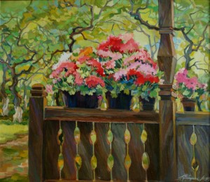 Bloomy porch