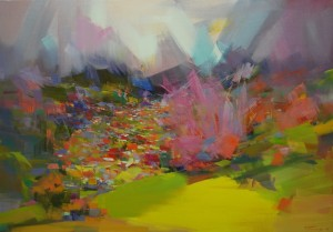 Spring in Mountains2015oil on canvas109x76.