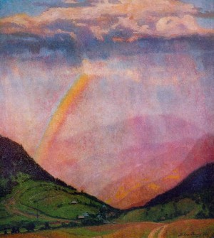 Rainbow, 1976, oil on canvas