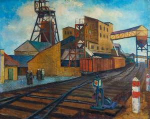 На Солотвинській шахті, кін. 1960-х, п.о., 81.5х101