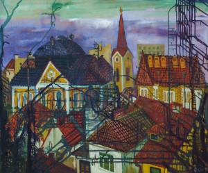 F. Seman, View of Uzhhorod (2),1996