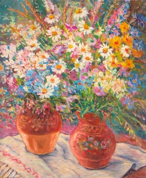 Wildflowers, 1986, oil on cardboard, 60x50