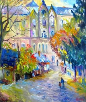 «Осінь у старому місті», п. о., 60x70