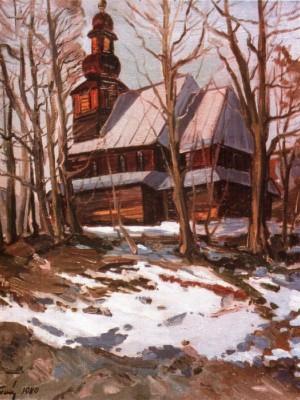 Церква св. Миколая(1785) с. Подобовець, 1980, п.о., 70х60