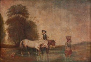 I. Silvai Crossing The River', oil on canvas