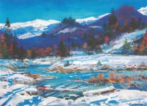 Зима в Карпатах, 2004, п.о., 60х90