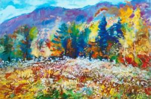 Квітуча поляна, 2014, п.о., 80х120