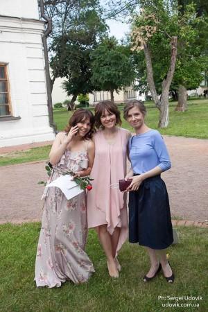 The curators of the 3D.Public Art project Olha Sobkovych, Olesia Sobkovych, Maryna Streltsova