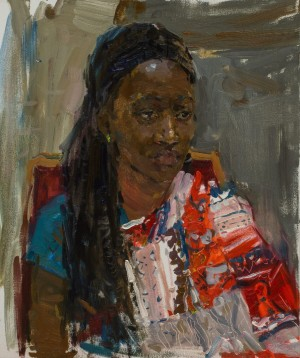 Maryna Zevako. Portrait. 2017. 50х60