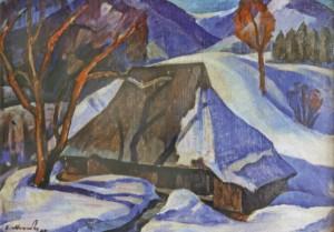 На краю села, 1984, к.о. 50х69