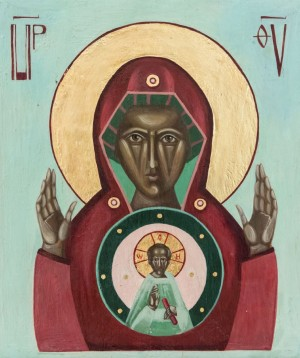 I. Solonynka Holy Virgin', board, tempera, 26x31