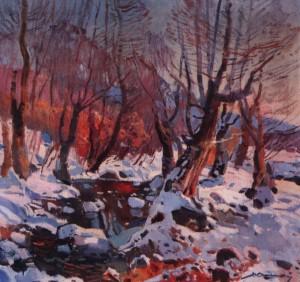Зимовий потік, 1971, п.о. 75х100