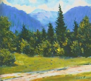 Пейзаж біля села Невицьке, 1964, 50x60